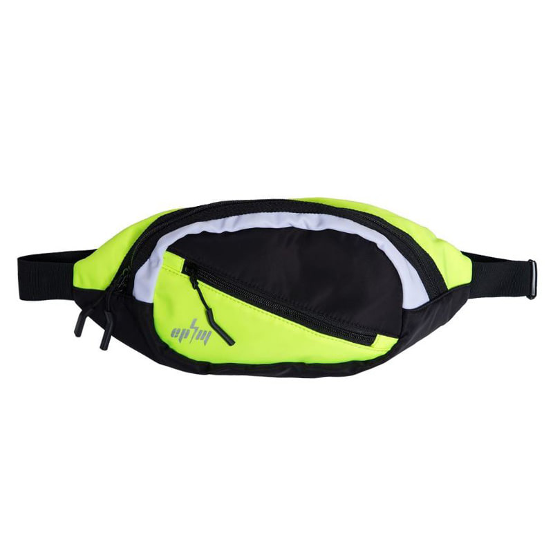 COLOR BLOCK CROSS BODY BAG (NEON YELLOW)