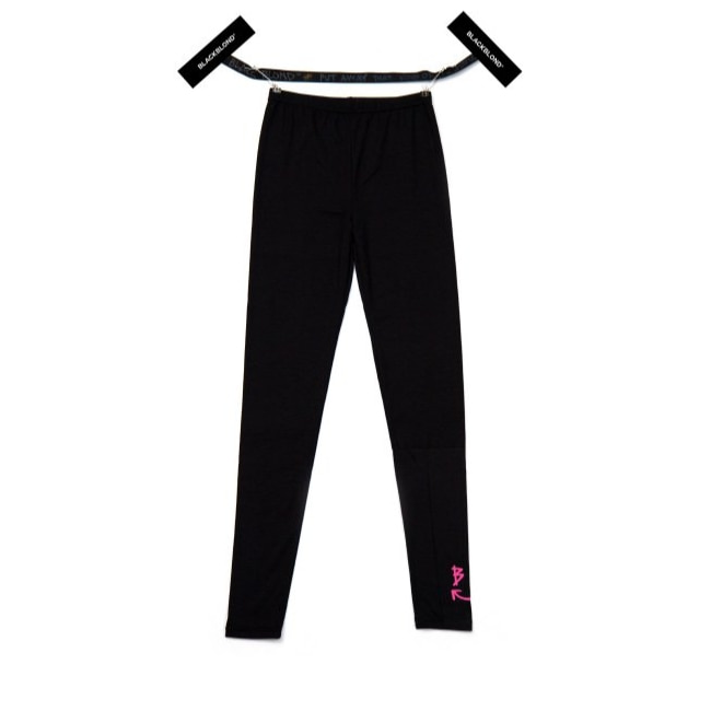 BBD SMILE LOGO LEGGINGS (BLACK / NEON PINK)