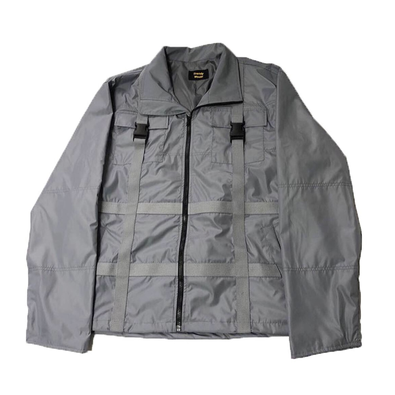 STRAP WINDRUNER JACKET GREY
