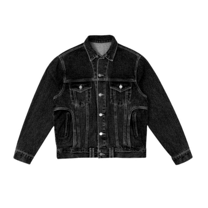 PANTS POCKET DENIM JACKET BLACK
