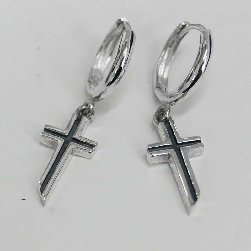 DIVINE MINI CROSS EARRING SET (SILVER 925)