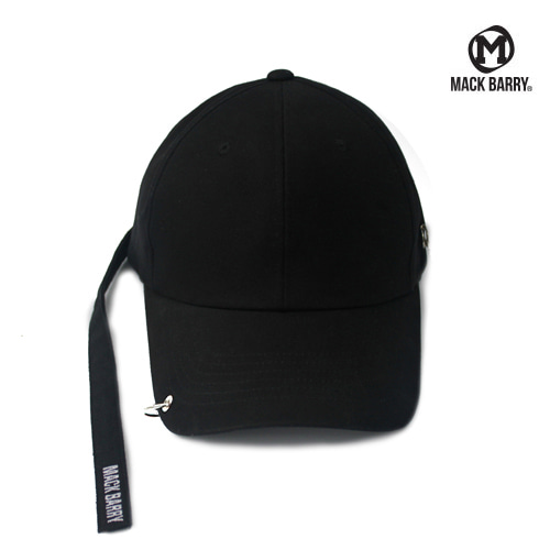 MACK BARRY LONGSTRAP CURVE RING CAP (B) BLACK