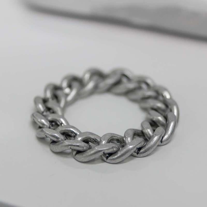 7MM CLASSIC CHAIN RING VINTAGE SILVER