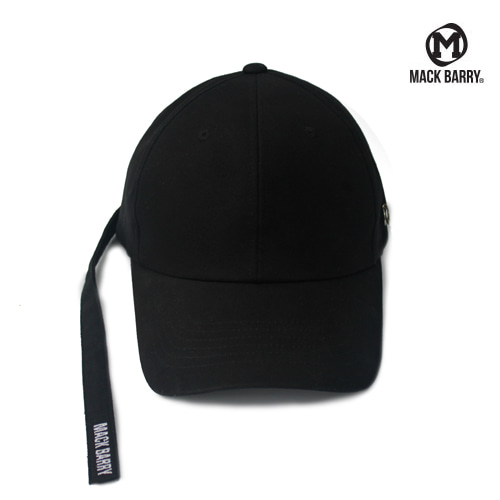 MACK BARRY LONGSTRAP CURVE CAP (B) BLACK