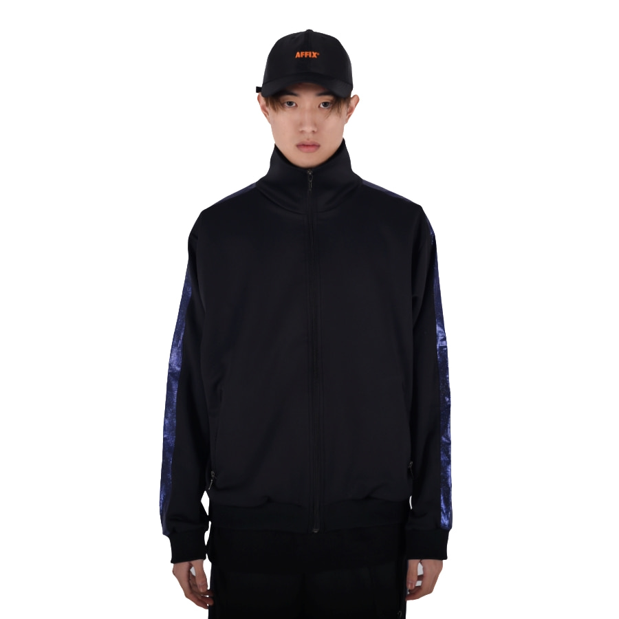 SHINING TRACK JACKET (BLACK/BLUE)