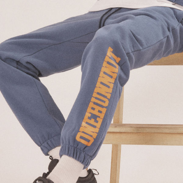 17 AW BASIC FONT SWEAT PANTS (MIDNIGHT BLUE)