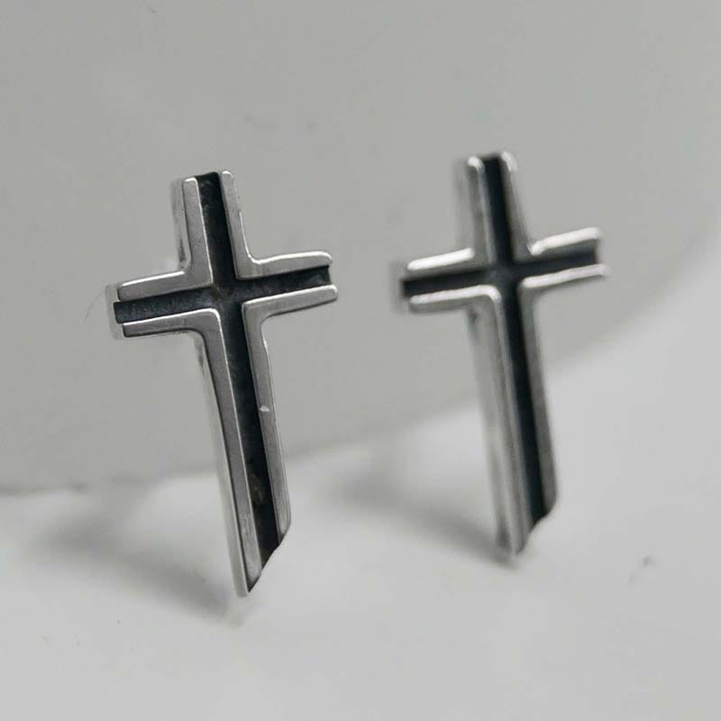 MINI CROSS PIERCING SET (SILVER 925)