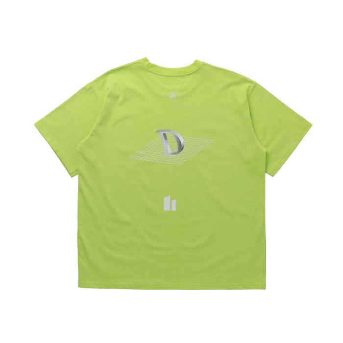 DROP LOGO OVERSIZED T-SHIRT LIME