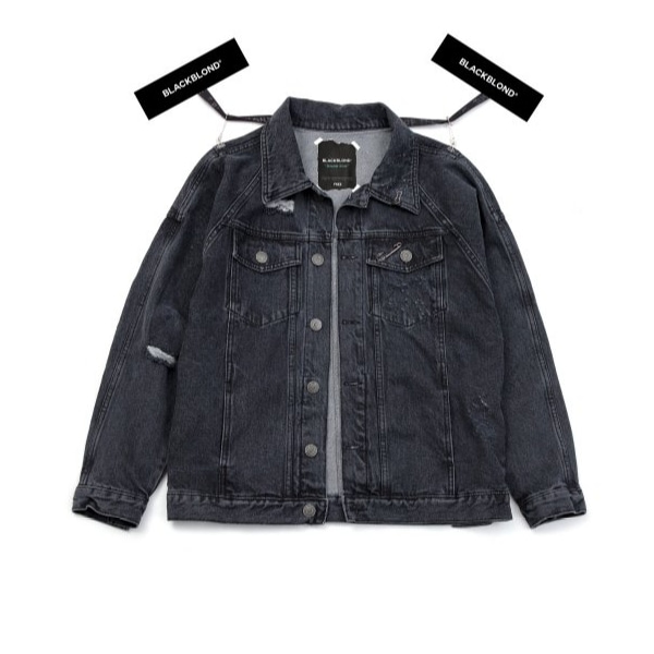 BBD THE LAST BLOOD DENIM JACKET CHARCOAL