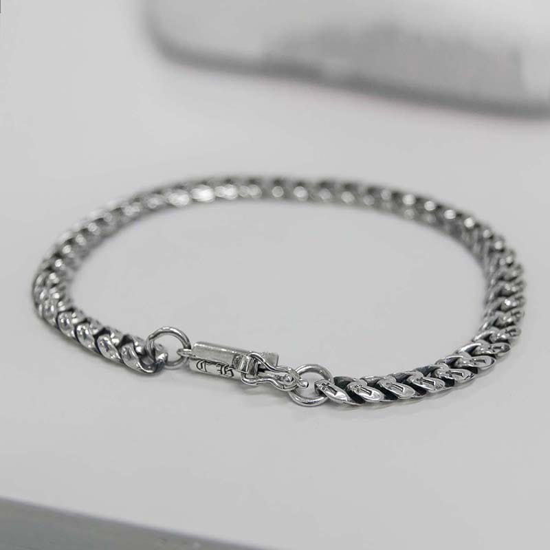 6MM CROSS CHAIN BRACELET (SILVER 925)