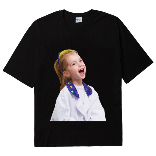 ADLV BABY FACE SHORT SLEEVE T-SHIRT BLACK LABORATORY