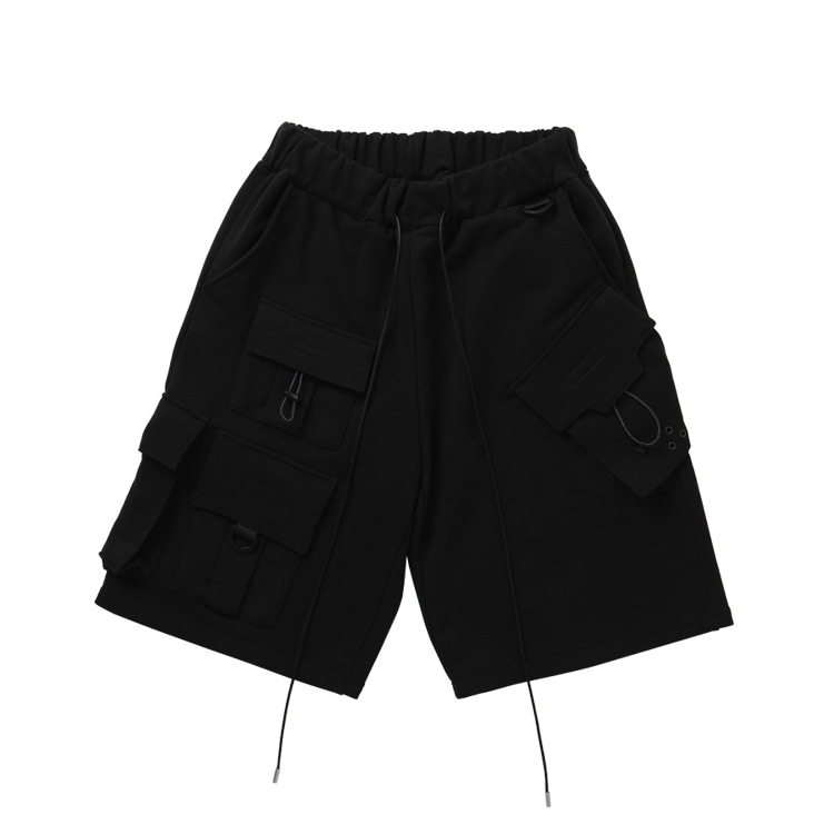 FOCUS TECH WEAR CARGO SHORTS BLACK