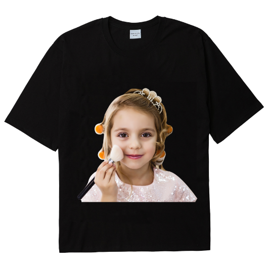 ADLV BABY FACE SHORT SLEEVE T-SHIRT BLACK MAKEUP