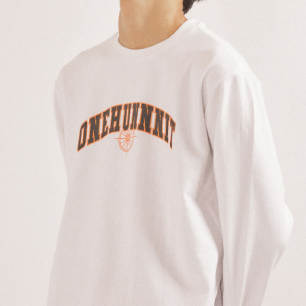 17 AW ARCH LOGO LONG SLEEVE (WHITE)