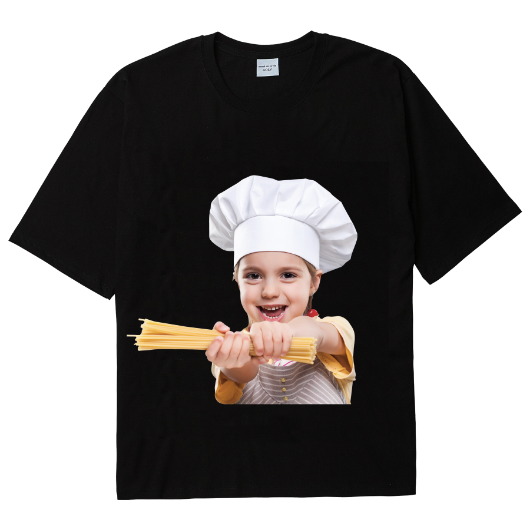 ADLV BABY FACE SHORT SLEEVE T-SHIRT BLACK PASTA