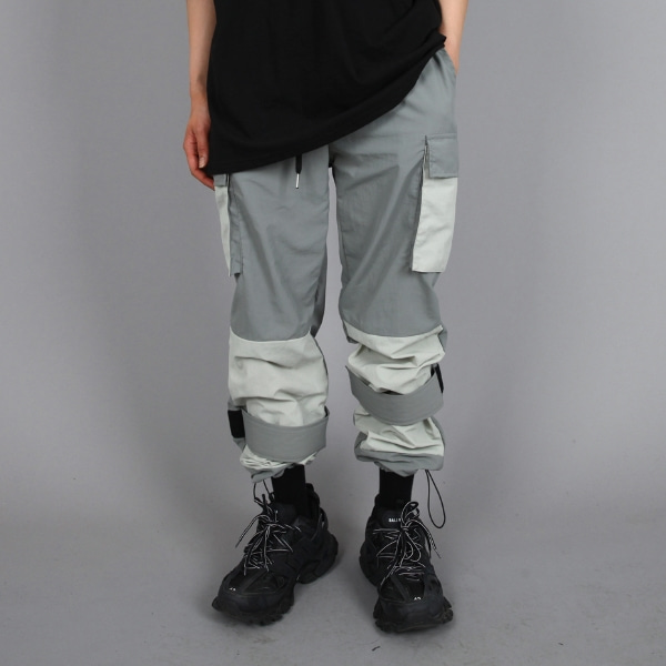 VELCRO MIX PANTS GREY