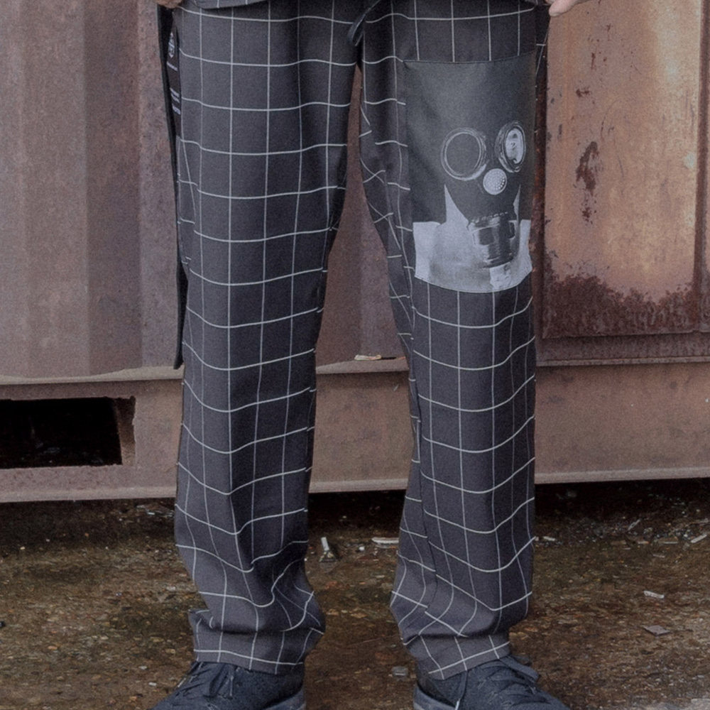 TECNICAL X WINDOWPANE PANTS