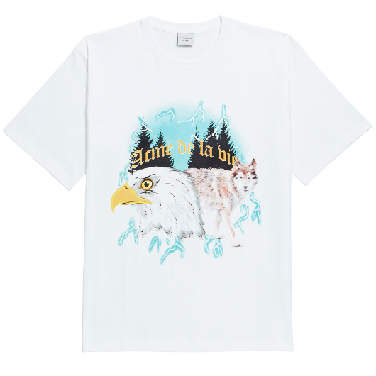 ADLV WOLF CMYK SHORT SLEEVE T-SHIRT WHITE