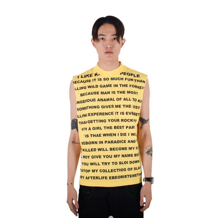 HI NECK NO SLEEVE (YELLOW)