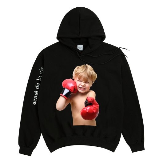 ADLV BABY FACE HOODIE BLACK BOXING