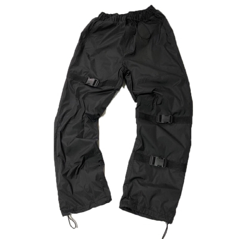 STRAP WINDRUNER PANTS BLACK
