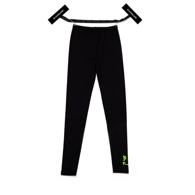 BBD SMILE LOGO LEGGINGS (BLACK / NEON YELLOW)