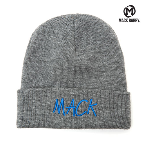 MACK STITCH BASIC BEANIE (GRAY)