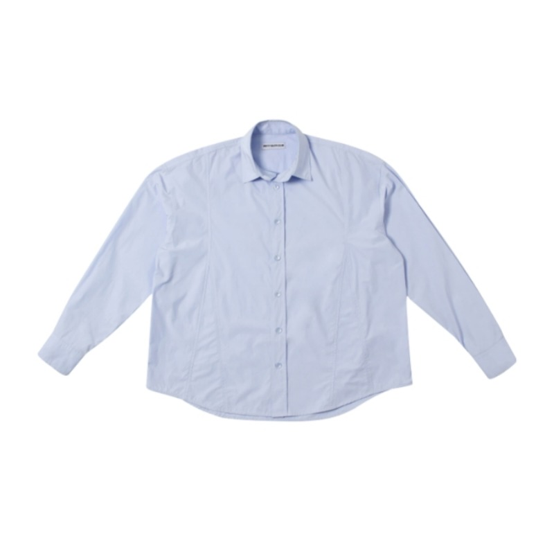 DECONSTRUCTED SEAM BLUE SHIRT