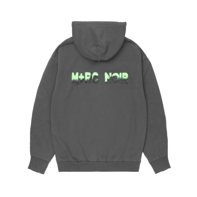 NOIR SPRAY HOODIE (BLACK/NEON GREEN)