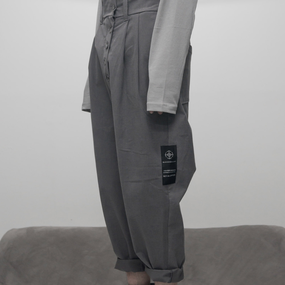 FADED 2TUCK LONG PANTS (GREY)