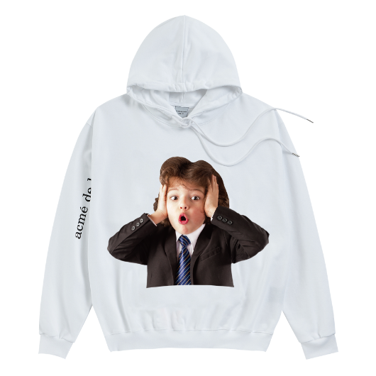 ADLV BABY FACE HOODIE WHITE BEETHOVEN