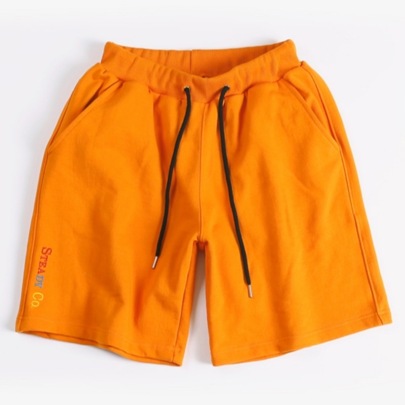 STEADY CO SWEAT SHORTS ORANGE