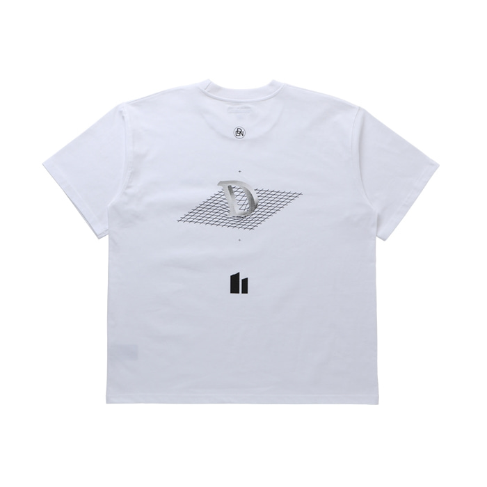 DROP LOGO OVERSIZED T-SHIRT WHITE
