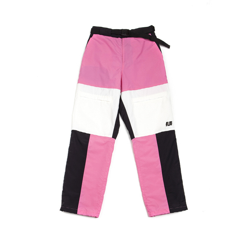REFLECTIVE TRACK PANTS PINK