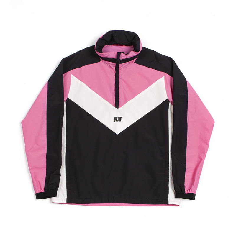 REFLECTIVE HOODED TRACK TOP BLACK/PINK