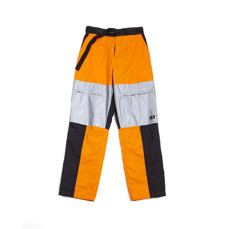 REFLECTIVE TRACK PANTS ORANGE