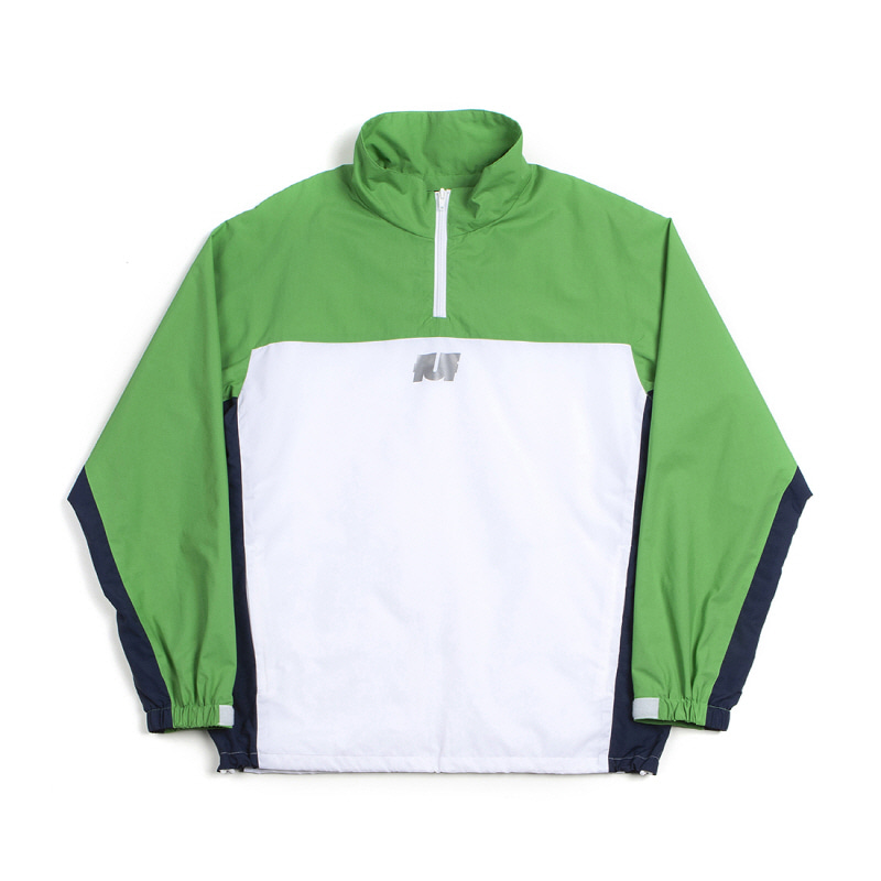 LOGO TRACK TOP WHITE/GREEN