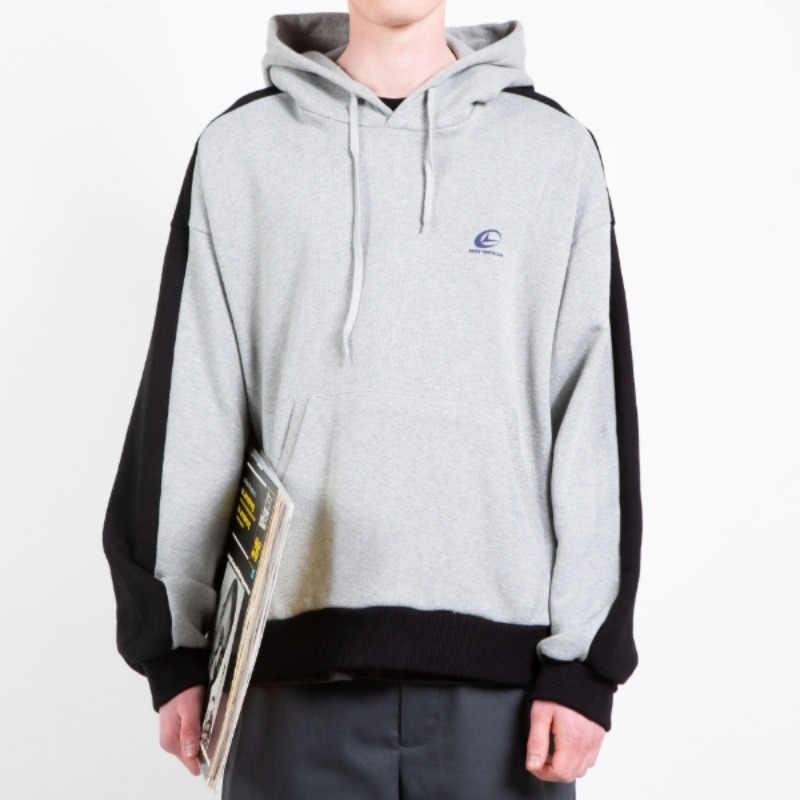 DOUBLE COLOR HOODIE GREY