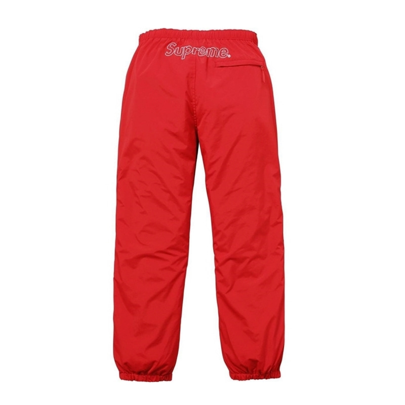 PIPING TRACK PANTS RED