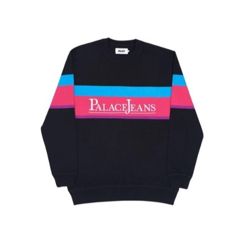 PALACE JEANS CREW NECK BLACK