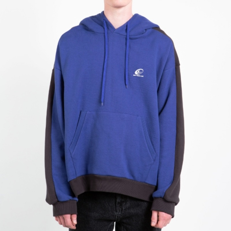 DOUBLE COLOR HOODIE DEEP BLUE