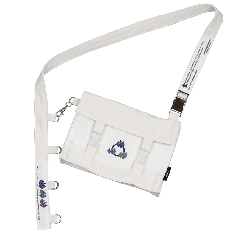 THREE FLAME MINI CROSS BAG V2 (LIGHT IVORY)