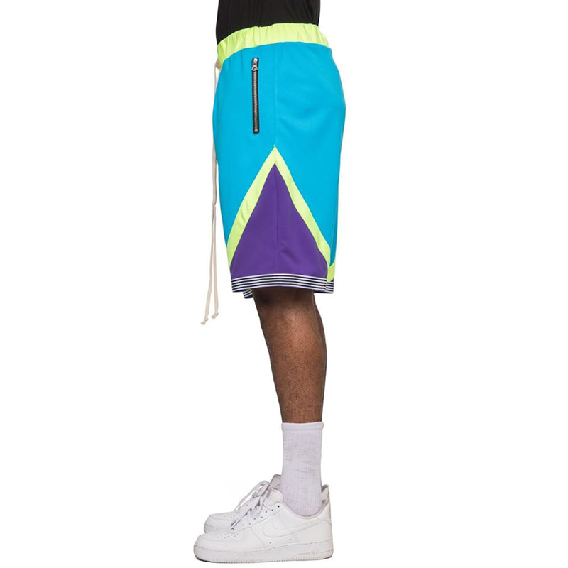 TRI-COLOR SHORTS (AQUA)