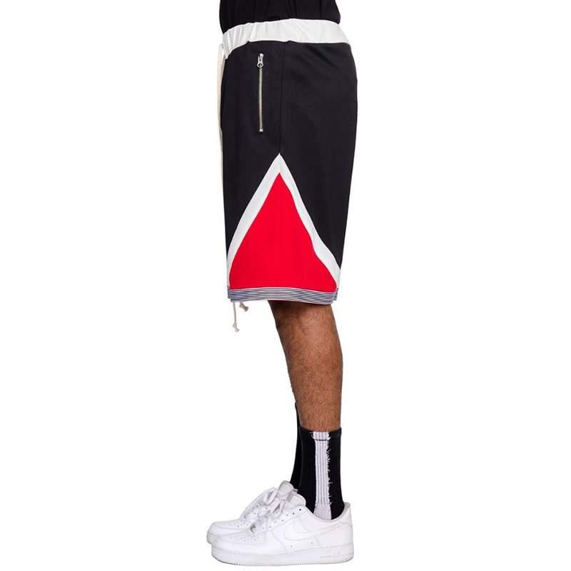 TRI-COLOR SHORTS (BLACK)