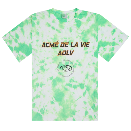 ADLV TIE-DYEING SHORT SLEEVE NEON GREEN