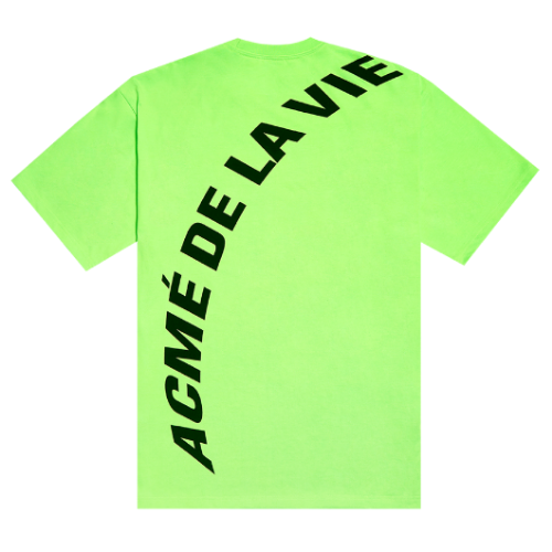 ADLV NEON BIG LOGO SHORT SLEEVE GREEN