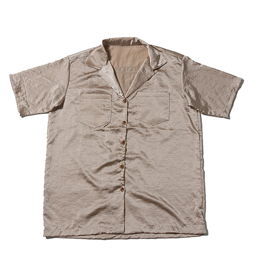 WASHER SILK SHIRTS BEIGE