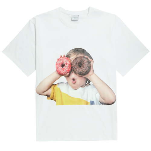 ADLV BABY FACE SHORT SLEEVE WHITE DONUTS 1