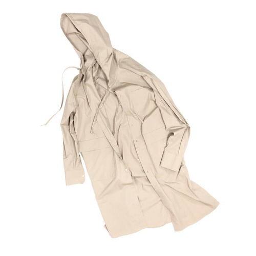 HOOD TRENCH SHIRT BEIGE