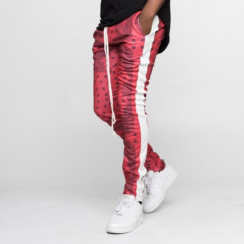 BANDANA TRACK PANTS RED